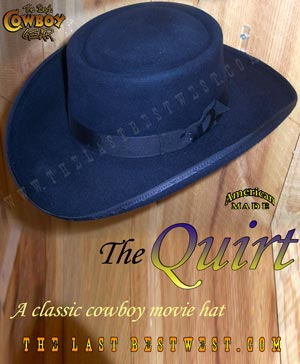Quirt Western Movie Hat