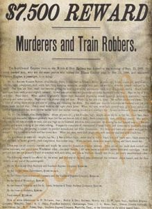 $7500 Reward for Murderers Poster