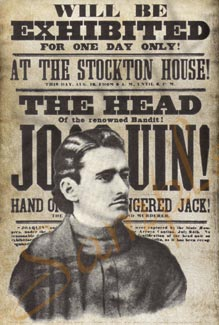 Head of Joaquin Murieta Poster