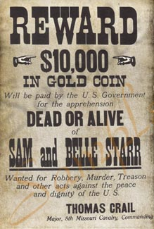 Reward for Sam and Belle Starr Poster