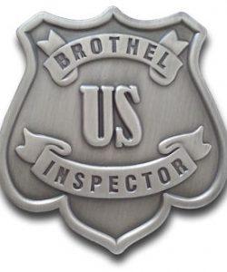 Brothel Inspector Badge
