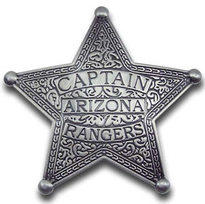 Captain Arizona Rangers Badge