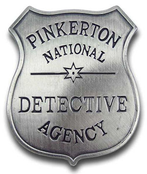Pinkerton Detective Agency Badge