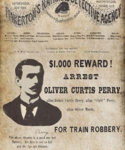 Pinkerton Circular Oliver Curtis Perry