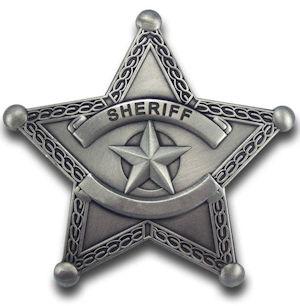 Blank Sheriff Badge