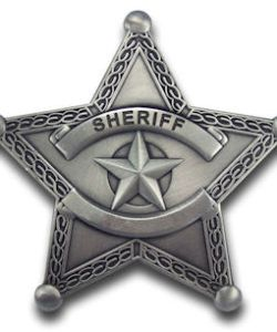 Blank Sheriff Badge