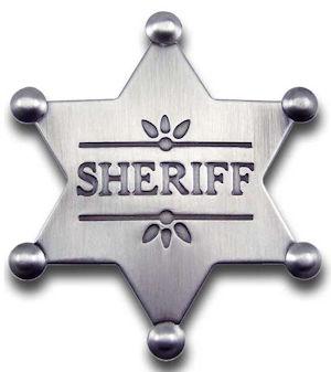 Sheriff Star Badge