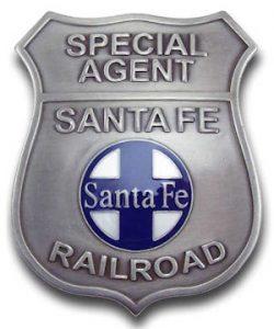 Special Agent Santa Fe Railroad Badge