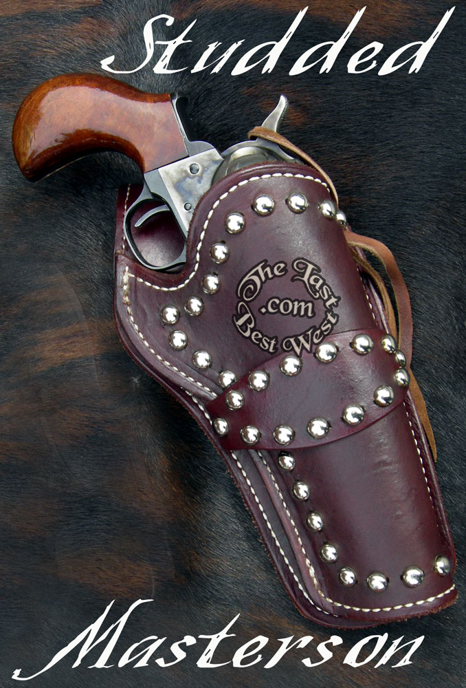 Studded Leather cross draw holster