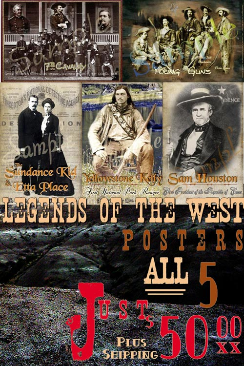 5 Legends of the West Posters