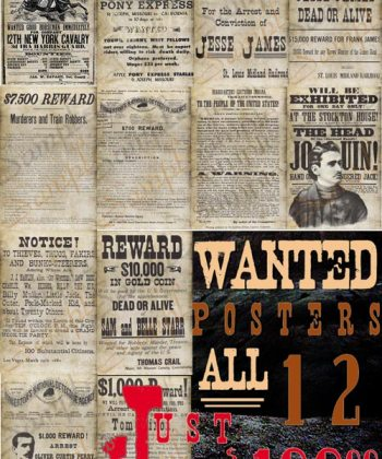 Authentic Wanted Posters