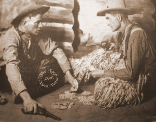 A friendly game of cowboy poker turns on a card. . . .