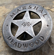 Old West Marshal Badge