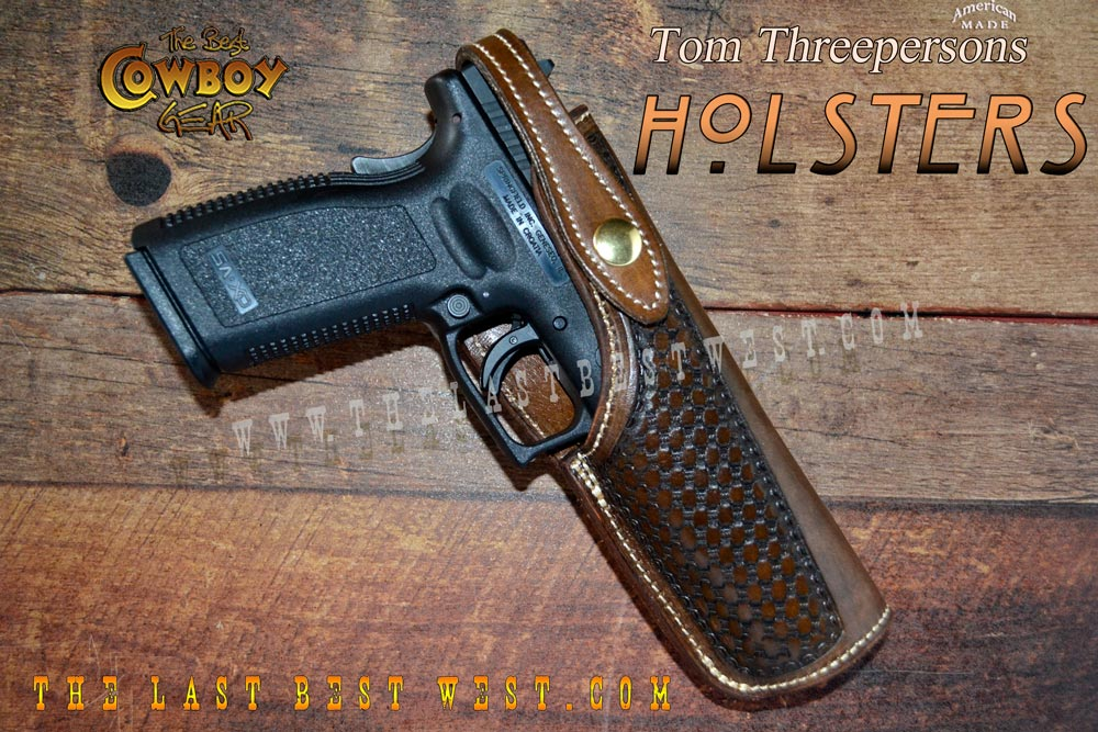 Leather holster for a polymer 1911