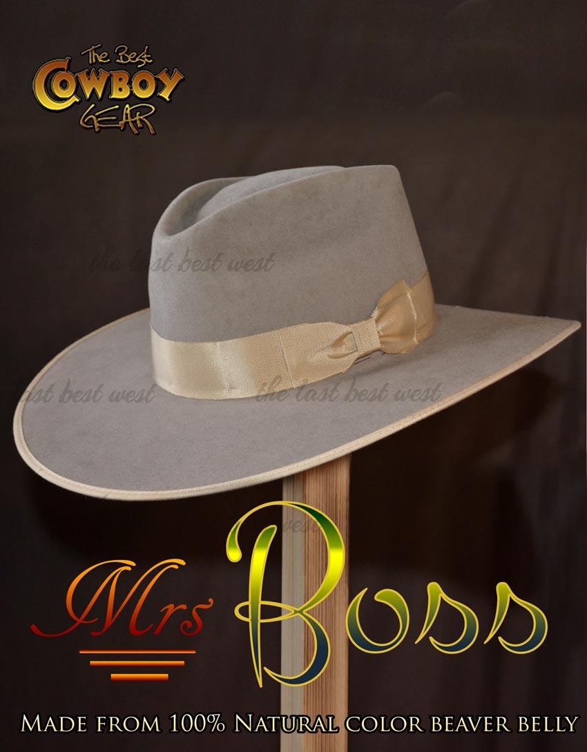 """Custom Crease SILVER BELLY Felt Hat ~OVERSIZED Wide 5/"""" Brim~ 5X Quality Cowboy"""