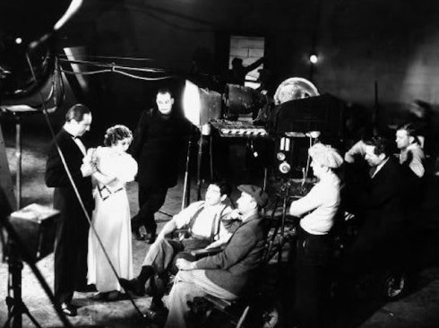on the set of The Black Cat copy