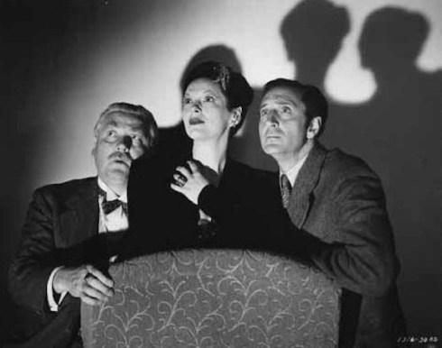 GaleSondergaard with Nigel Bruce and Basil Rathbone