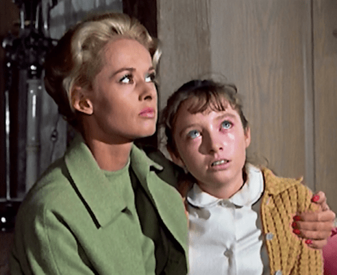 Veronica and tippi in The Birds