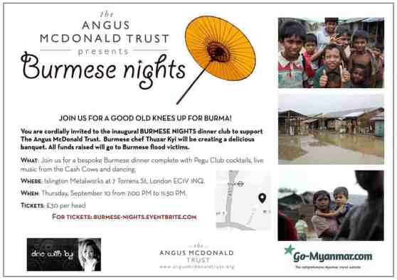 Event to raise fund for Burma flood