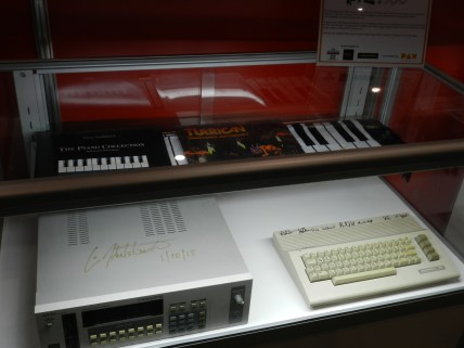 C64 signed by legends of SID music, including Chris Huelsbeck.