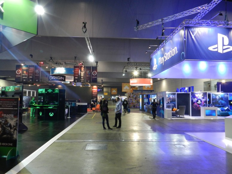 This is what the Expo Hall looks like before the crowds arrive.