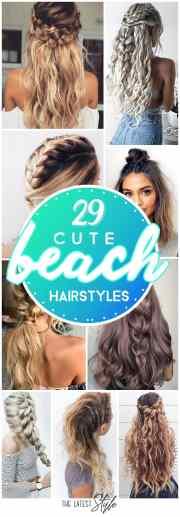 cute hairstyle beach