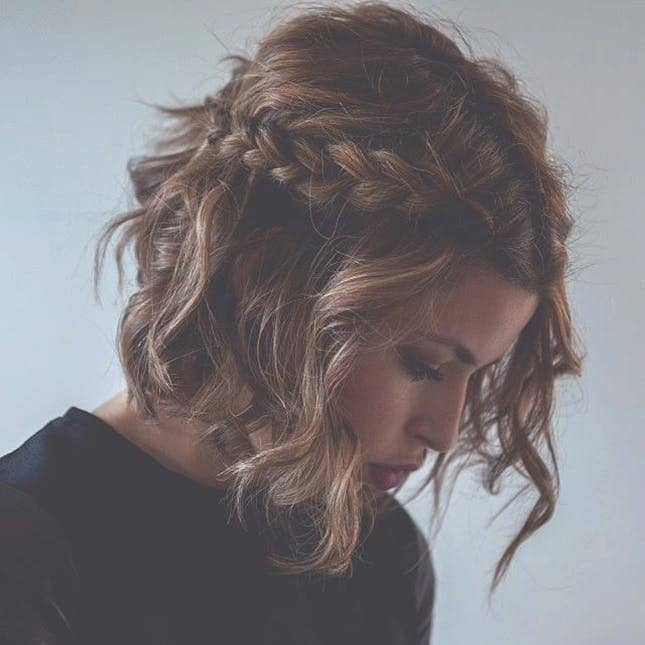 Lazy Day Braid Hairstyle For Short Hair