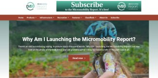 Micromobility Report Website - Home Page
