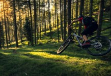 Orbea MTB rider in action