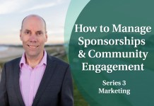 Business Coaching: Series Three - Sponsorships and Community Engagement