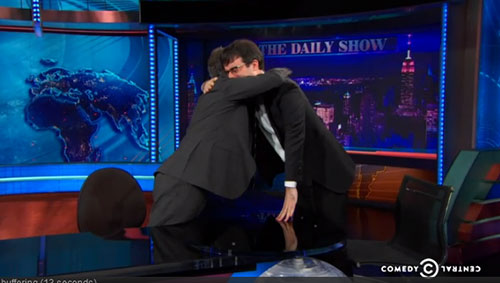 "John Oliver's teary goodbye from ""The Daily Show"""