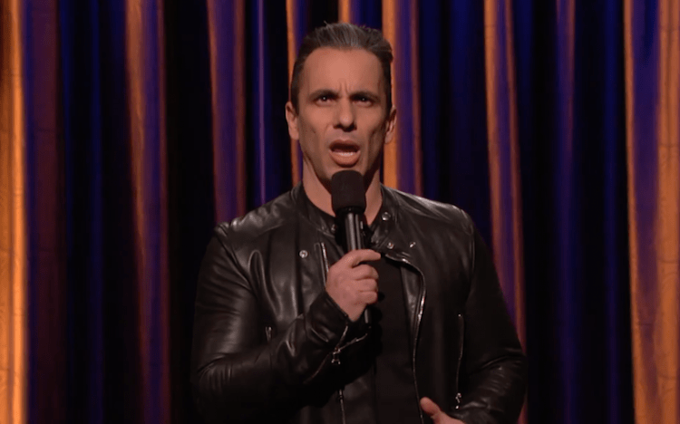 "Sebastian Maniscalco on Conan, ""The GoFundMe page? What is this? How about go work."""