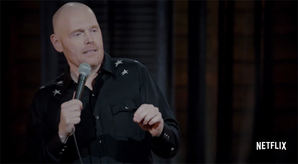 "Here's a teaser of Bill Burr's new special, ""Walk Your Way Out"""