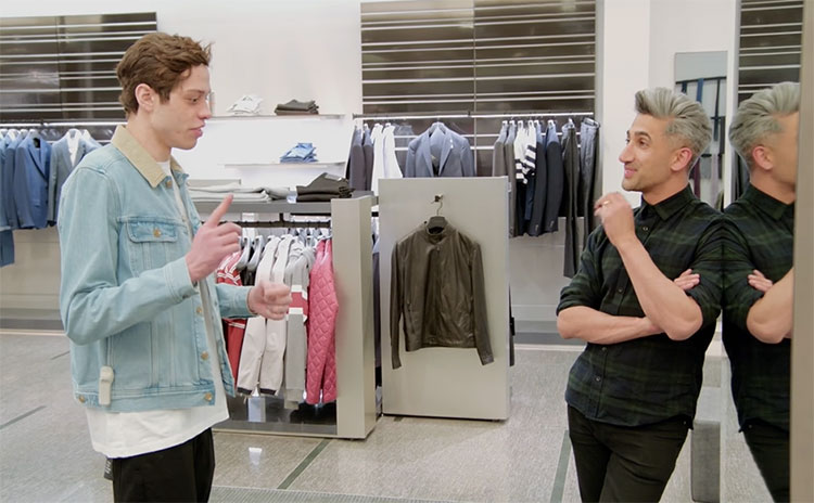 "SNL's Pete Davidson went clothes shopping with Tan France from ""Queer Eye"""