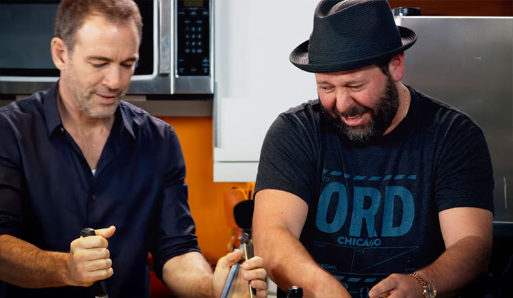 "Bert Kreischer makes Cioppino with Brendan Schaub and Bryan Callen on ""Something's Burning"""