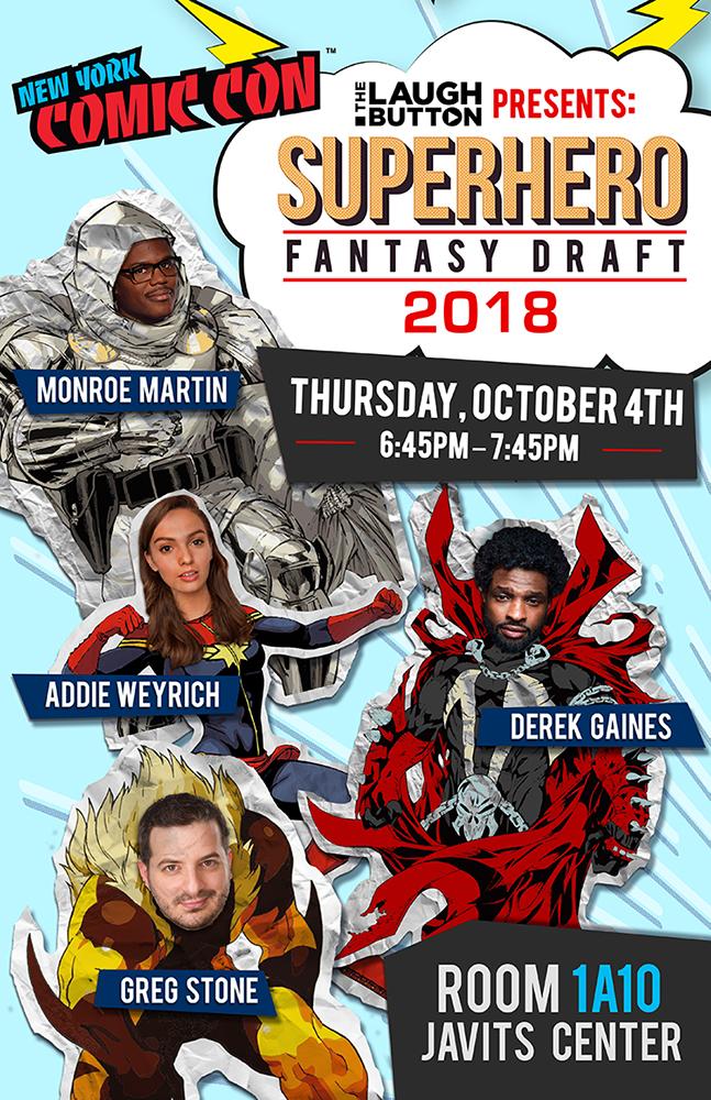 NYCC Superhero Fantasy Draft 2018