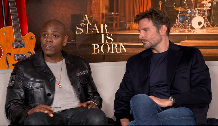 "Dave Chappelle discusses his friend Bradley Cooper directing him in ""A Star Is Born"""