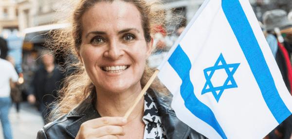 woman with israeli flag