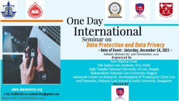 One Day E- International Seminar On Data Protection And Data Privacy - The Law Communicants