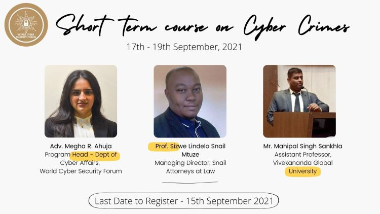 Short Term Awareness Course on Cyber Crimes (Register by 15th September): Free Registration