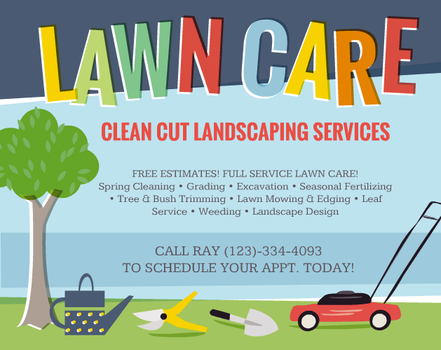 leaf clean up flyers