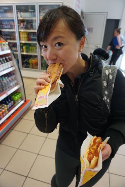 Icelandic hot dog or pylsur. Delicious!
