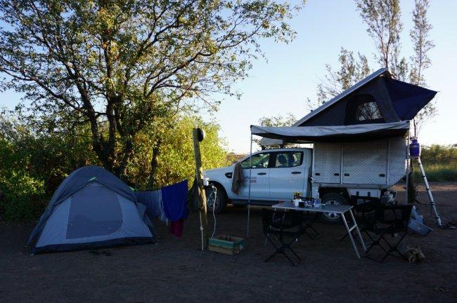 Ford Ranger Bushcamper Double Cab Campsite Setup