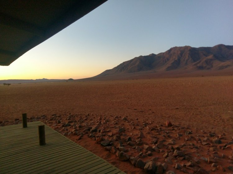 View from our suite at Wolwedans Private Camp.