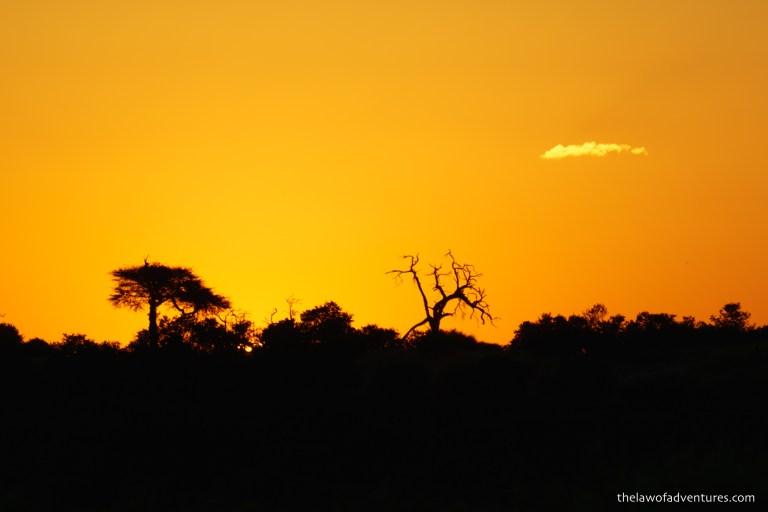 Sunset over Savuti