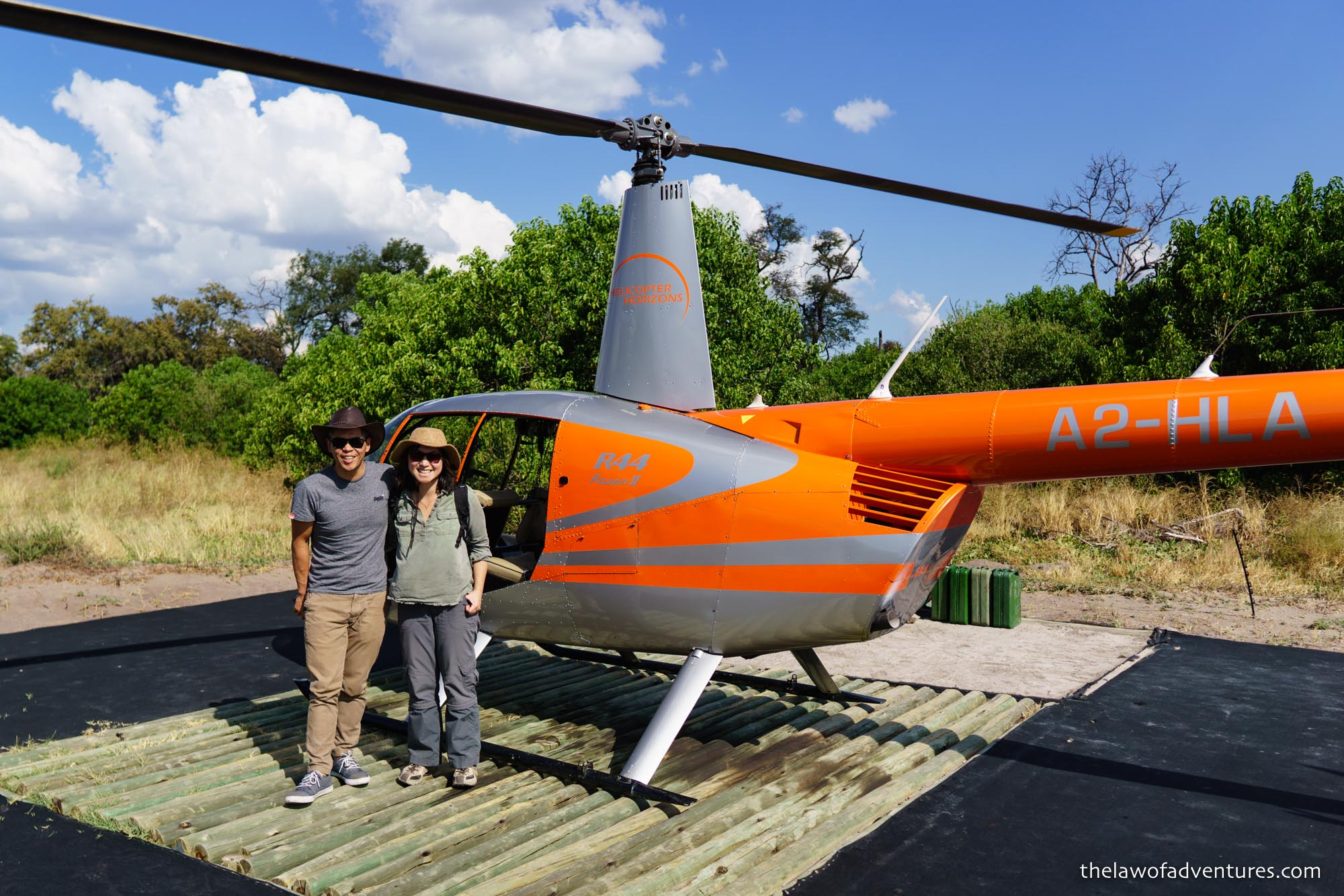 Linyanti Bush Camp's Helicopter