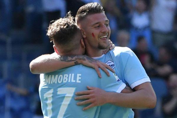 Lazio-Sampdoria Red Mark on Cheek, Source- Eurosport