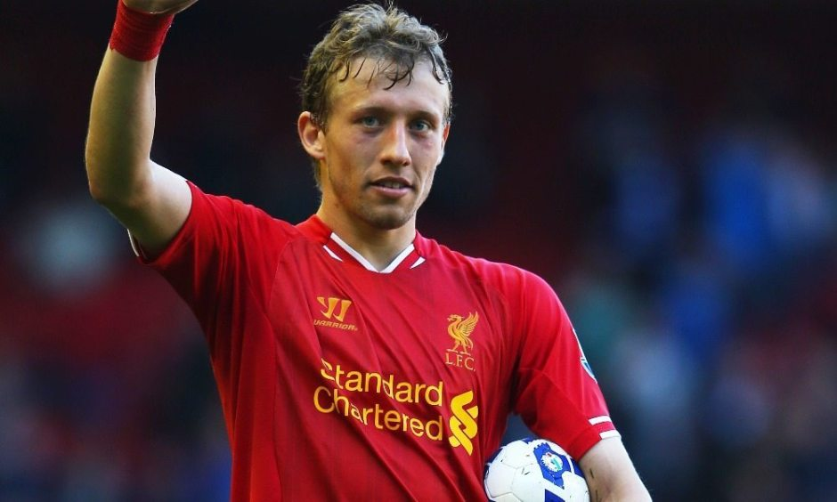 Lucas Leiva playing for Liverpool, Source- 101 Great Goals
