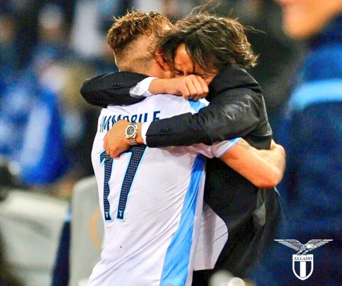 Immobile and Inzaghi Lazio vs Salzburg