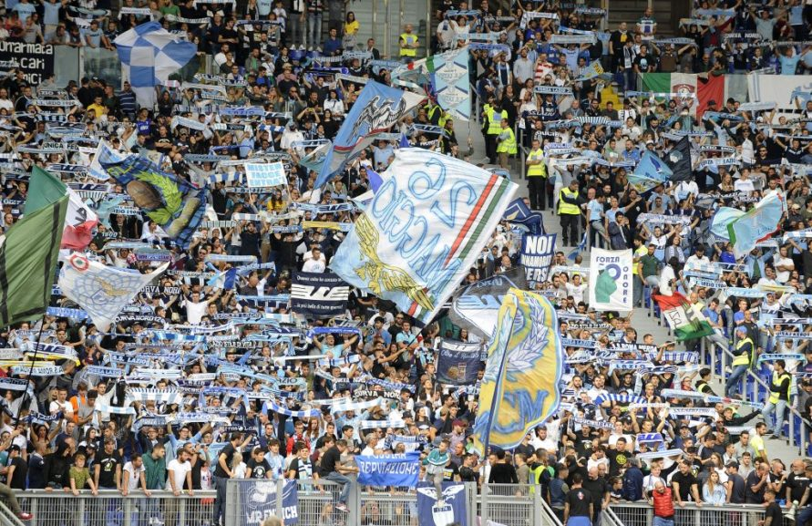 Lazio Fans in the Curva Nord